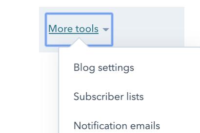 Blog settings function in HubSpot